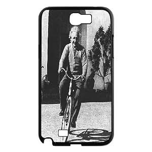 Albert Einstein on His Bike Samsung Galaxy Note 2 Case, Case Tyquin {Black}