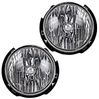 Pair Set Halogen Headlights Headlamps Replacement for 07-17 Jeep Wrangler 55078149AC 55078148AC