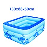 Hyun times Bath home inflatable blue 130 88 50cm thick folded plastic children bathing pool