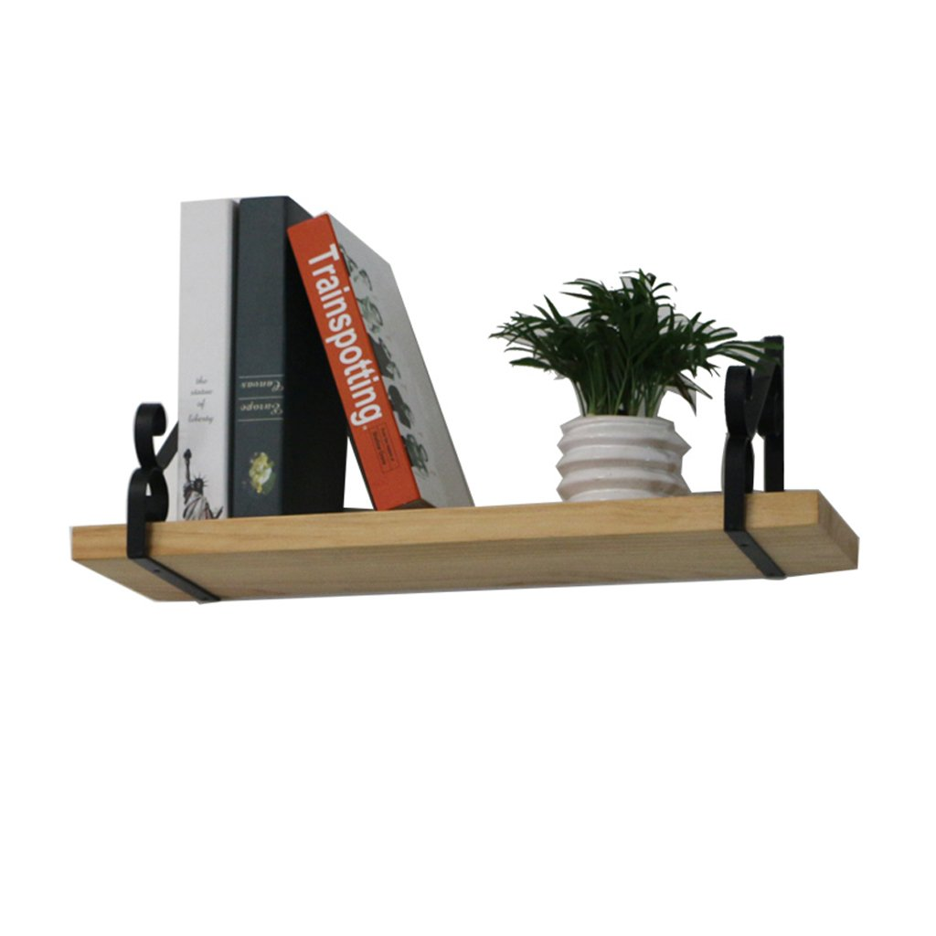 Lil Multifunctional Nordic Wood Rack Partitions Decorative Frame Creative Living Room Bedroom Wall Shelf Bookshelf (Size : 60202cm)