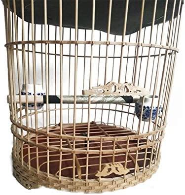 LIPETLI Exquisita Jaula de Pájaros de Bambú Zorzal de Bambú ...