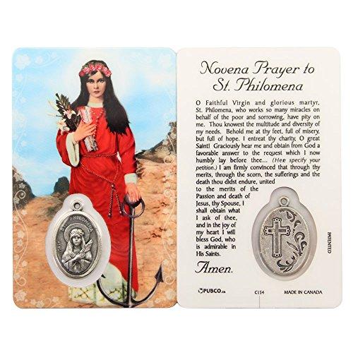 Novena Prayer Card - Novena Prayer to St Philomena, Prayer Card