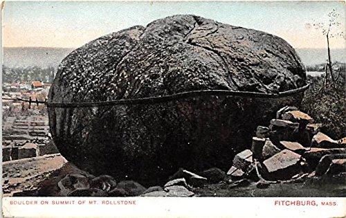 Rollstone Hill (Boulder on Rollstone Hill Fitchburg Massachusetts Postcard)