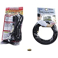 ZeroHDTV Antenna Kit, Includes 18 RG59U Coaxial Cable and RG59U Connector. Provides up to 120 Mile Range. Enjoy Free HDTV! Can Be Used Indoors or Outdoors.