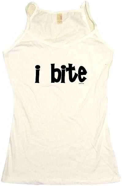 Amazon.com  I Bite Women s Babydoll Tee Shirt  Clothing
