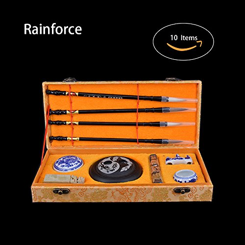 Chinese Calligraphy Brush Water Writing / Painting Sumi Set(10 Items) by Rainforce