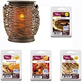 Wax Warmer Gift Set Full-Size Wax Warmer Woven Lantern with Wax Gift Set, Perfect Addition to your Home Decor