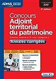 Concours Adjoint territorial du patrimoine - Annales corrigées - Catégorie C - Concours 2017
