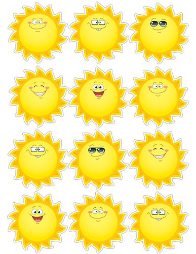 Teacher Created Resources Happy Suns Accents (5419)
