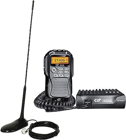 Radio CB CRT Mike ASQ + Antena CB PNI Extra 45 con imán