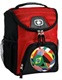 World Soccer Flag Lunch Bag Insulated Soft Cooler Soccer Design Best Size Lunchbox