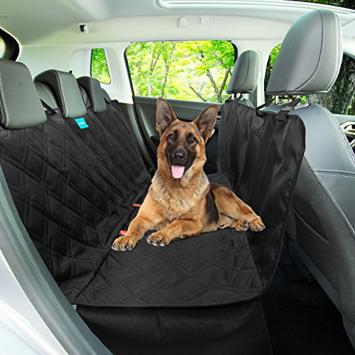 Dog Seat Cover backseat Hammock Style 2 in 1 - Heavy Duty , Quilted luxury Waterproof Material . Non Slip Backing with Anchors Dog Back seat Protector for Trucks, Suv's , Vans Univrsal fit.