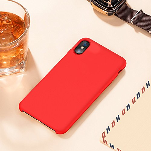 10 Couleurs Silicone Anti JEPER Apple Rouge Etui Rubber Drapant Anti 5 X 8 iPhone Rayures pour X TPU Pouces Cases Souple iPhone Fine de Ultra Bumper Coque Bonbon AAvqxtZwg