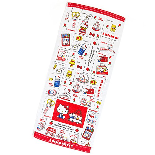 Famous Pop Star Costumes (Sanrio Hello Kitty face towel retro pop From Japan New)
