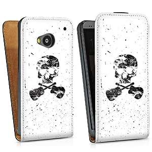 Diseño para HTC One M7 DesignTasche Downflip black - Ein toter Dichter