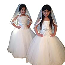 Shop Ginger Wedding Girls First Communion Wedding Tiara Veil Dress 1 or 2 Tier White