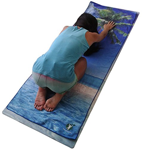 Fitlifestyleco Yoga Mat Towel Combo: Non Slip Best For Yoga Bikram