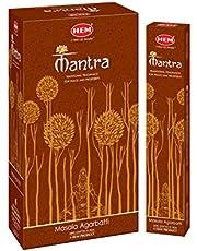 Hem Rökelse nyligen lanserade exklusiv doft Mantra Masala Agarbatti pinnar (uppsättning av 12 lådor, 15 gram vardera) av Hem