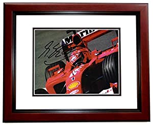 Michael Schumacher Signed - Autographed Formula One Driver 4x6 inch Photo - MAHOGANY CUSTOM FRAME - Guaranteed to pass PSA or JSA