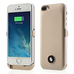Champagne 3000mAh External Battery Backup Power Case for iPhone 5s 5