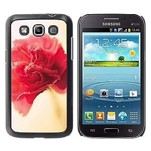 rígido protector delgado Shell Prima Delgada Casa Carcasa Funda Case Bandera Cover Armor para Samsung Galaxy Win I8550 I8552 Grand Quattro /Red Pink Yellow Petal/ STRONG