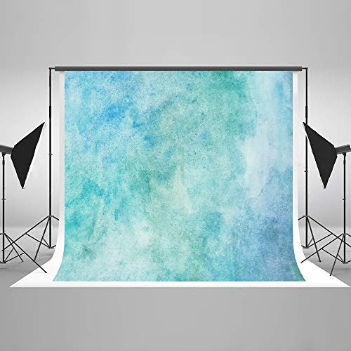 7ft(W) x5ft(H) Blue Portrait Photography Backdrop Watercolor Abstract Photo Background Grunge Photo Studio Props for Photography Free Wrinkles Cotton Cloth Props