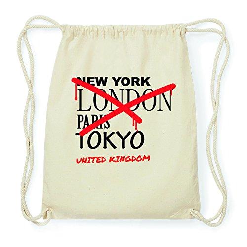 JOllify UNITED KINGDOM Hipster Turnbeutel Tasche Rucksack aus Baumwolle - Farbe: natur Design: Grafitti CsZ0UFL3po