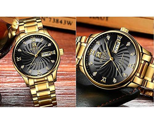 BINGER Automatiskt mekaniskt märke män klocka safir armbandsur, färg B