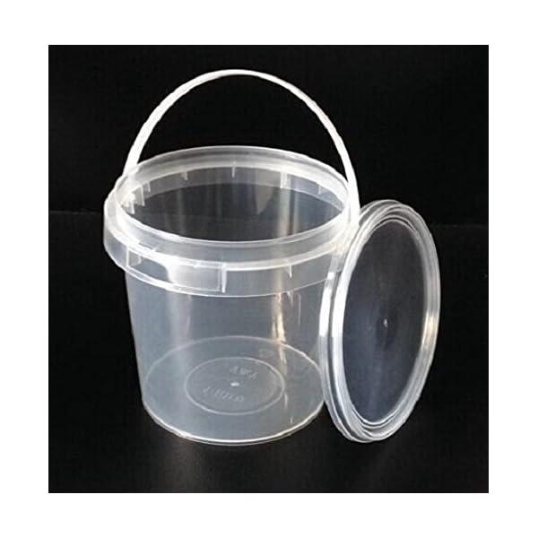 Secchielli-di-plastica-trasparente-di-grado-alimentare-dotati-di-coperchi-a-prova-di-manomissione-capacita-1-litro-prodotto-in-Europa