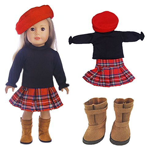 4pc Xmas Doll Clothes