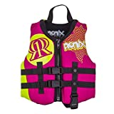 Ronix August Girl's Front Zip CGA Vest Child (Pink/Highlighter) KId's Life Jacket