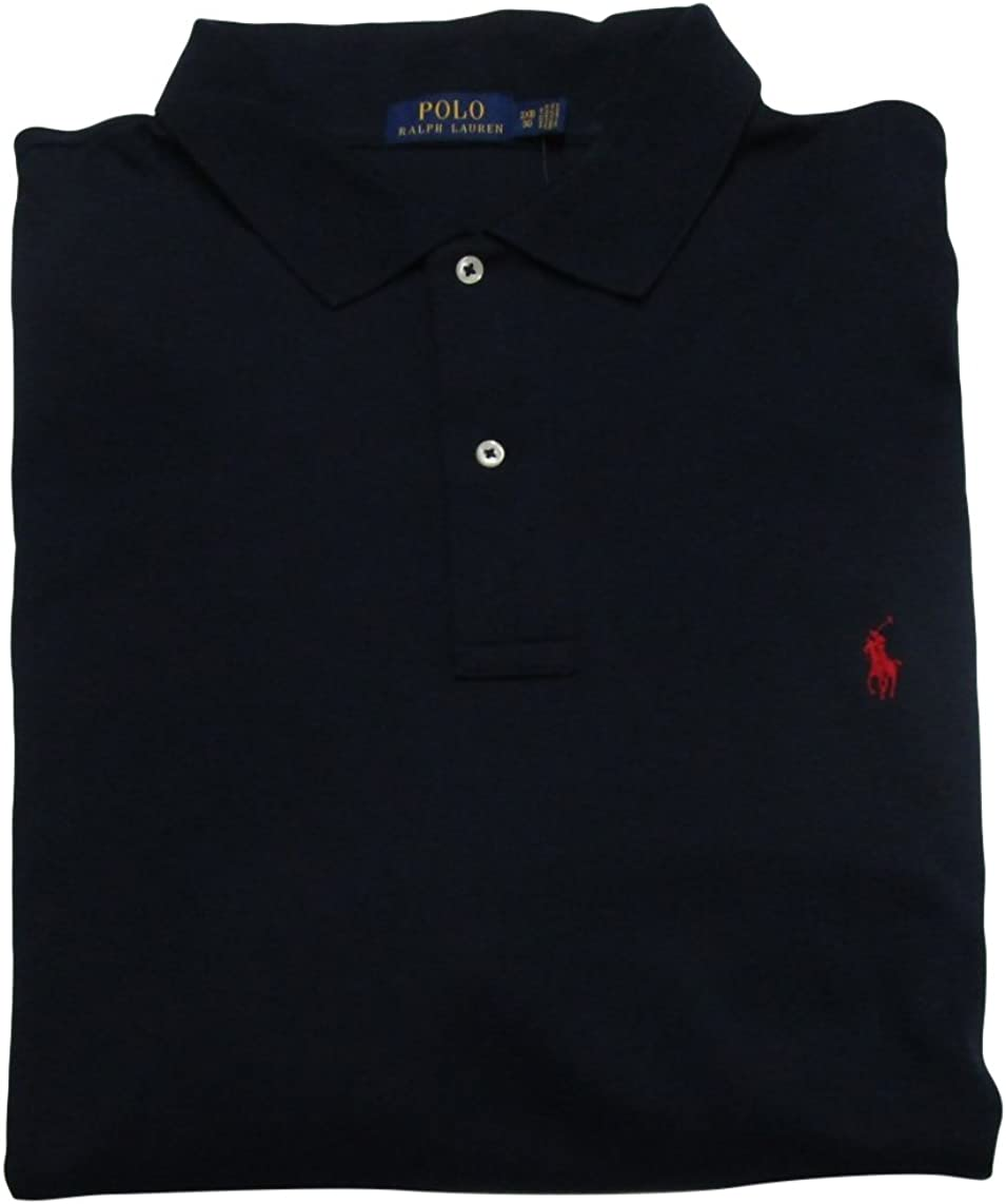 RALPH LAUREN Men's Big and Tall Interlock Polo Shirt  Pony Logo  Classic Fit