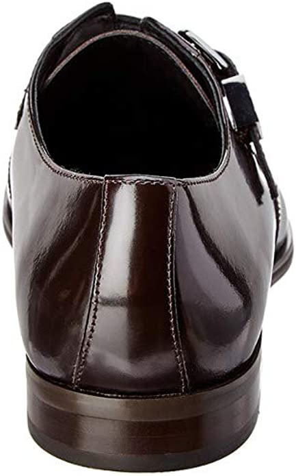New in Box Versace Collection Men/'s Brown 1 Buckle Leather Shoe V90276S