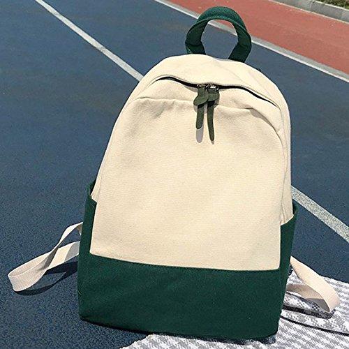 Lady Libri Moda Verde Majome di Zaino portatile Borsa Studente Girl Tela Scuola Donna tracolla Per a OawaPqr5g