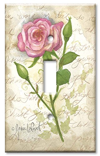 Single Gang Toggle Wall Plate - Old Rose