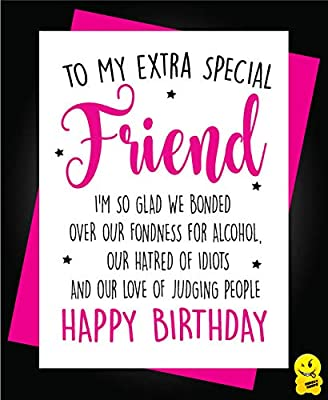 Admirable Funny Cheeky Happy Birthday Card Best Friend Bestie Novelty Girlie Funny Birthday Cards Online Aboleapandamsfinfo