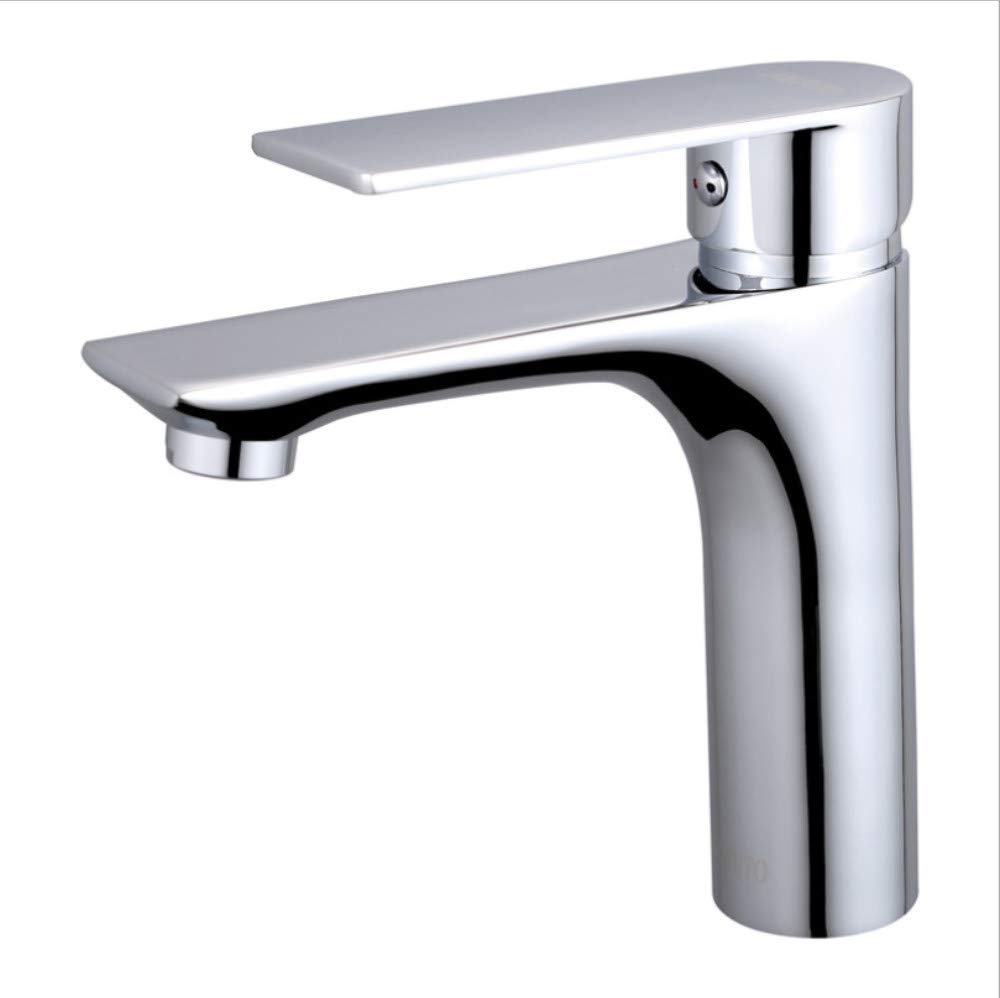 Kitchen Sink Taps Bathroom Sink Taps Copper Body Single Handle Basin Faucet Bathroom Bathroom Washbasin Basin Single Hole Hot And Cold Water Faucet
