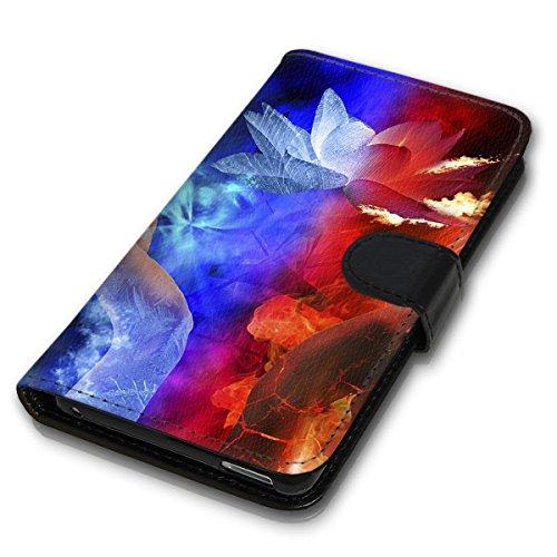 Wallet Book Style Flip Handy Tasche Case Schutz Hülle Schale Motiv Etui für Apple iPhone 6 Plus / 6S Plus - Design Flip MV262