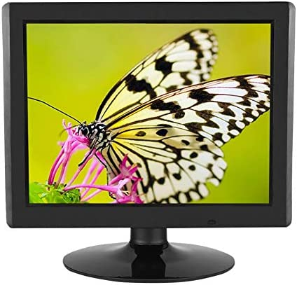 ASHATA 15-Zoll-Full-HD-Computermonitor, 1024 x 768 700: 1 Desktop-PC-LCD-Bildschirm mit VGA/HDMI-Eingang, für CCTV-Monitor, Innenbereich(EU)