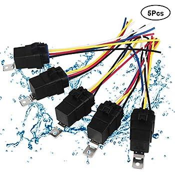 Astonishing Amazon Com Vanjing 5 Pack 40 30 Amp Waterproof Automotive Relay Wiring 101 Ferenstreekradiomeanderfmnl