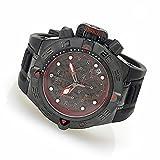"""Invicta 50mm Subaqua Noma IV """"Black Label"""" Quartz Silicone Strap Watch w/ Three-Slot Dive Case (23034)"""