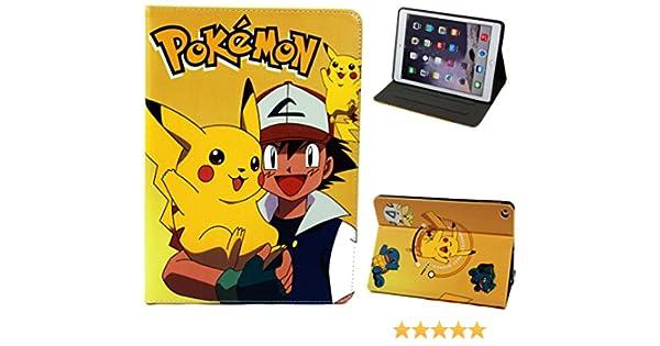 Funda para Apple iPad Pro DE 9,7 Pulgadas 2017 y iPad Air 1 – 2 Happy Pokemon Go Pikachu con función Atril: Amazon.es: Electrónica