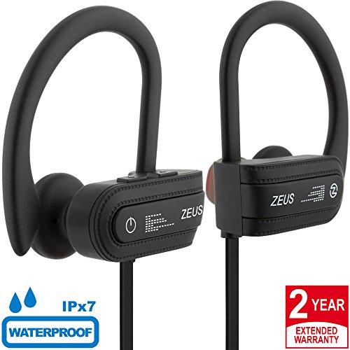 Wireless Bluetooth Headphones Zeus Storm Improved m.2017 Best HD Sound IPX7 Waterproof Earbuds with Microphone Running Headphones Sport Headphones Workout Headphones Wireless Earbuds for Women Men