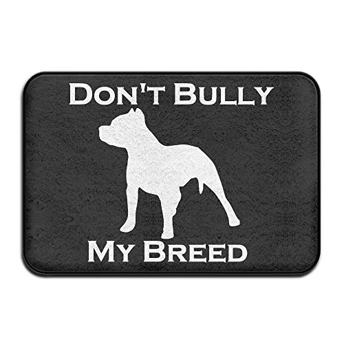 Pit Bull New Front Stand - EWD8EQ Don't Bully My Breed Pitbull Non-Slip Outside/Inside Door Mat Rug for Health and Wellness Toilet Entrance Rug 23.6