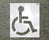 39'' HANDICAP Stencil, 1/16'' Plastic for use in Parking lot and roadway painting and striping