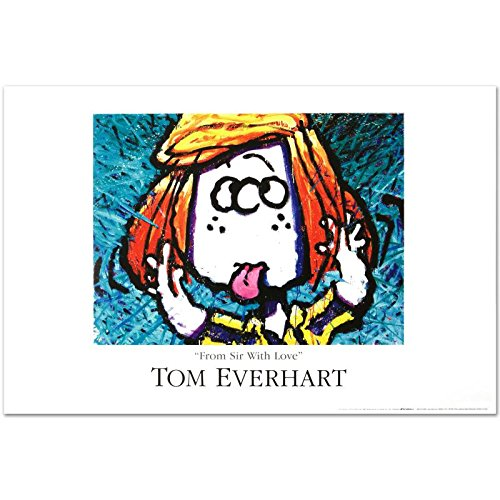 """Tom Everhart """"From Sir With Love"""" PEANUTS Fine Art Poster"""