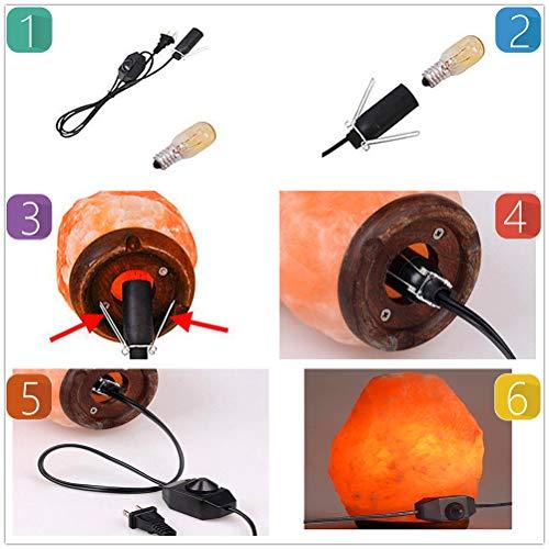 2.2 to 4.4 lbs Salt Lamp Himalayan Wall Salt Light Salt Rock Night Table Lamp Air Purifyer Light by Lovinland (Image #5)