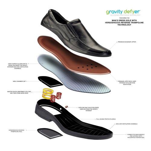 Gravity Defyer Mens Marseille Ii Pijnbestrijding Loafers Zwart