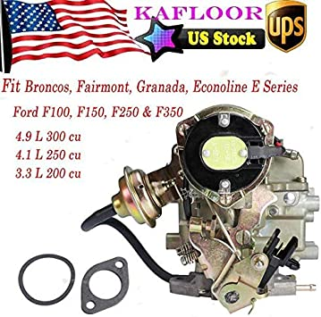 Top Carburetor Type Carter for Ford YFA F100 F150 F250 1 BARREL ELECTRIC CHOKE