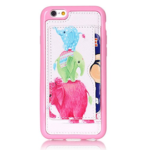 Little Elephant Creative Back Case Protector Holder Pattern Fashion For iPhone 6 / 6s plus